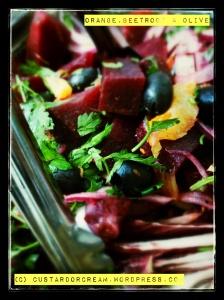 Orange, Beetroot and Olive Salad